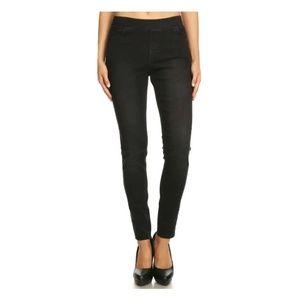 Women's Skinny Pull-On Denim Jeggings Size: M